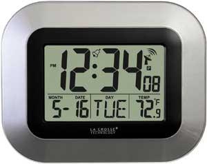 Digital Wall Clock with Indoor Temperature