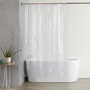 AmazonBasics Vinyl Shower Curtain Liner