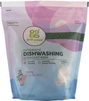 Grab Green Natural Dishwasher Detergent Pods