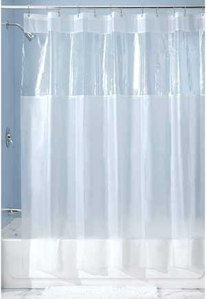 Mold and Mildew Resistant Plastic Shower Liner