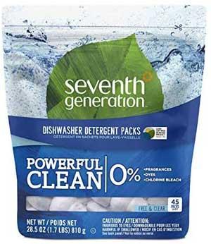 Seventh Generation Fragrance Free Dishwasher Detergent Pack