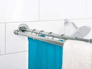 double tension shower curtain rod