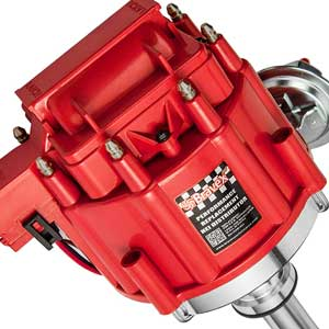 High-Performance Red Cap HEI Distributor Chevy 350
