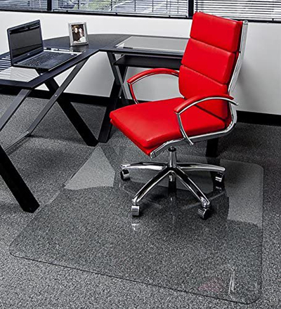 Premium Glass Chair Mat for Carpet or Hard Floor